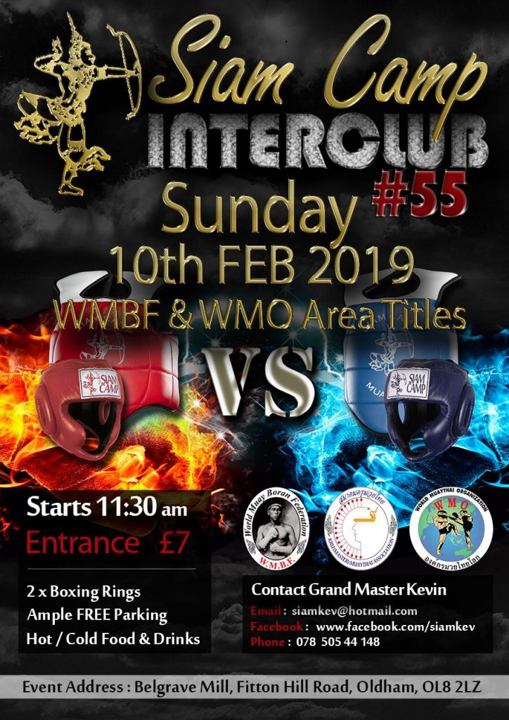 Siam Camp 1st Interclub of the year is approaching fast, don't miss out send in all your details Direct to GM Kevin @ whatsApp 07850544148 or on messenger